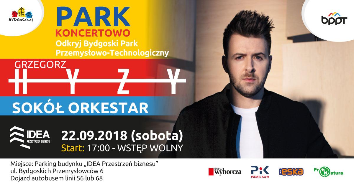 Park koncertowo – występ Grzegorza Hyżego i zespołu Sokół Orkestar