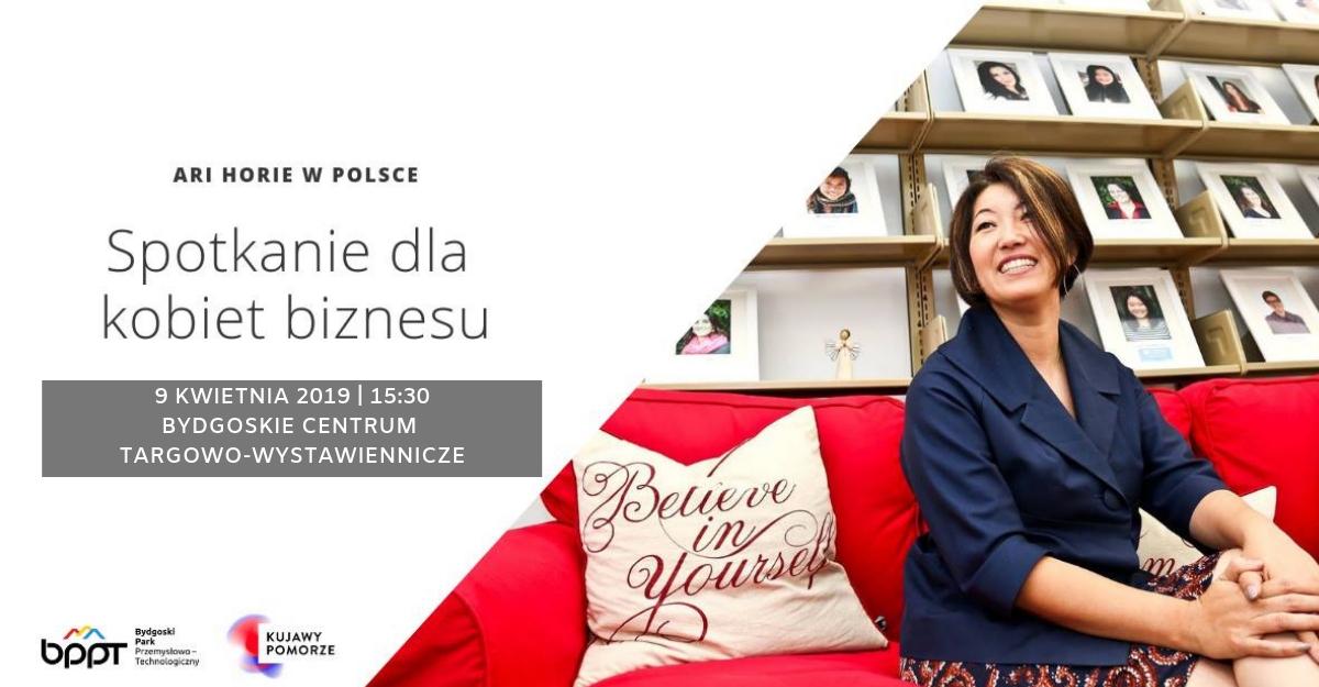 Ari Horie w Polsce – Spotkanie dla kobiet biznesu